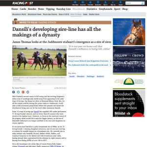 Dansili's legacy by Racing Post.